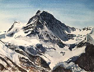 Cuadro en acuarela: Jungfrau I