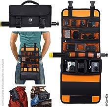CamKix bolsa enrollable con cintura / correa de hombro Compatible con GoPro Hero y otras acciones / cámaras compactas - Múltiples opciones de transporte (mano, hombro, cintura, espalda)