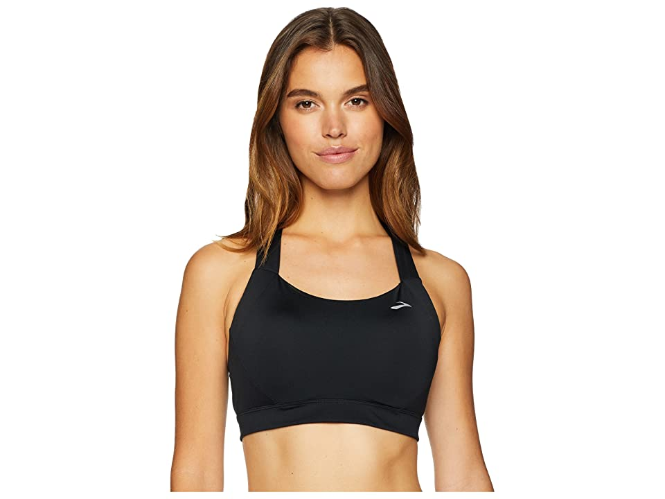 Brooks UpHold Cross-Back DD-Cup Sports Bra Moving Comfort (Black) Women