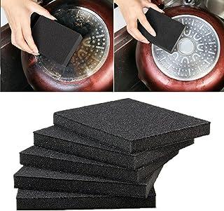 LAIYYI 5 st professionell rengöring svamp magisk suddgummi tar bort rost gnugga rengöringsborste Nano svamp för rengöring ...