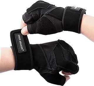 FREE SOLDIER Gymhandskar träningshandskar med fullt handledsstöd andningsbara tyngdlyftningshandskar halkfria palmskydd fi...
