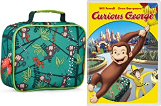 Cheeky Monkey & Animated Curious George Cartoon Movie DVD Lunch bag Kids Bundle
