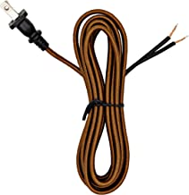NEW Vintage Brown Antique Style Electrical Plug For Cloth Covered Wire Lamp Cord