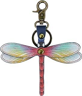 Anuschka Genuine Leather Hand Painted Key Chain/Key Fob | Wondrous Wings