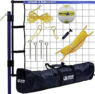 Park & Sun Sports Spiker Flex: Portable Outdoor Volleyball Net System, Blue