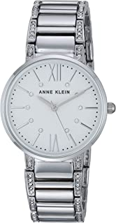 Anne Klein Women's AK/3201 Swarovski Crystal Accented Bracelet Watch
