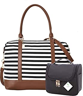 46e0d3f6d Ladies Women Canvas Travel Weekend Overnight Carry-on Shoulder Duffel Tote  Bag and Cosmetic Bag