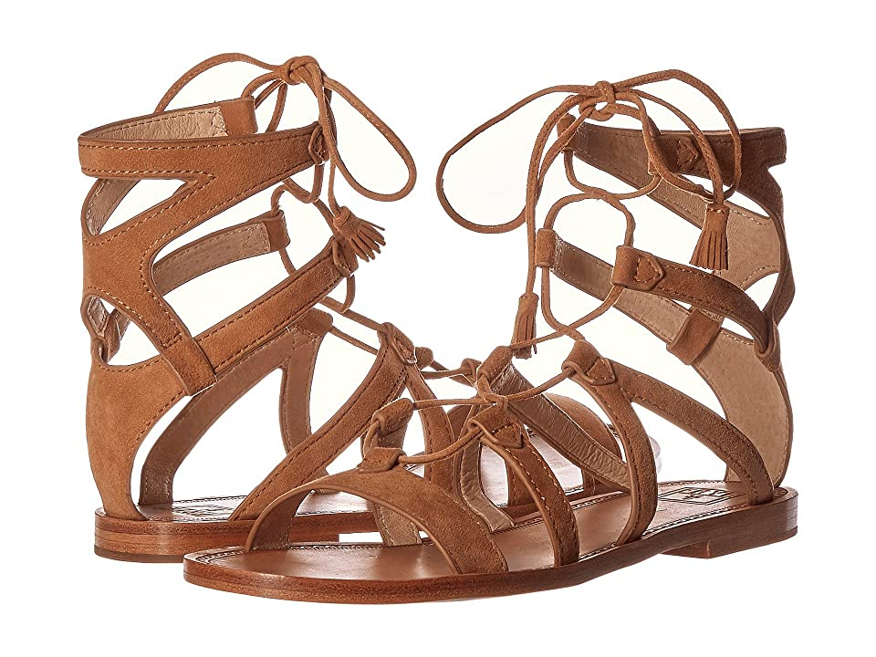 Frye Ruth Gladiator Short Sandal (Sand Suede) Women