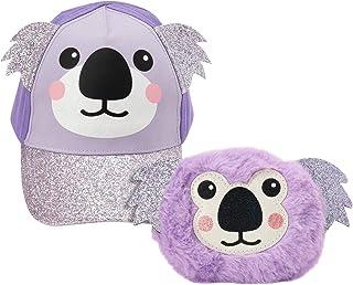 ABG Accessories Girls' Matching Critter/Unicorn Baseball Cap and Purse Set