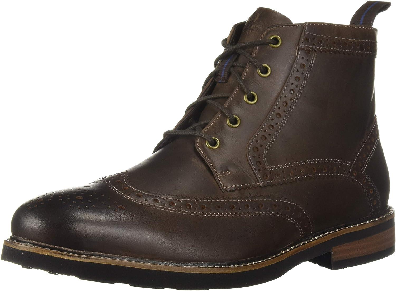 Nunn Bush Men Odell Wingtip Chukka Boot with KORE Comfort Walking Technology Oxford, Brown Ch, 13