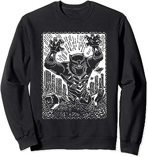 Marvel Black Panther Linocut Black Sweatshirt