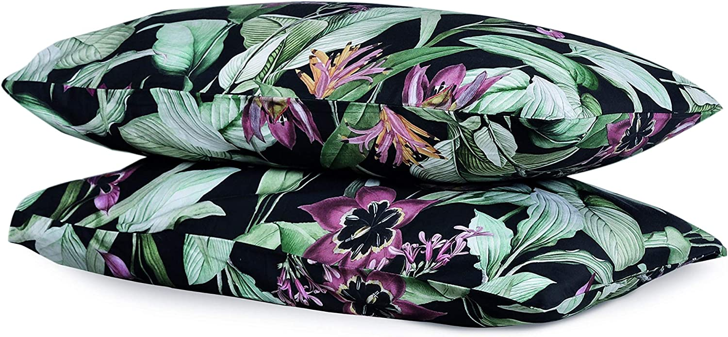 Sweave Digitally Printed Floral Cotton Spring new work Sateen 100% Pillowcases Sales