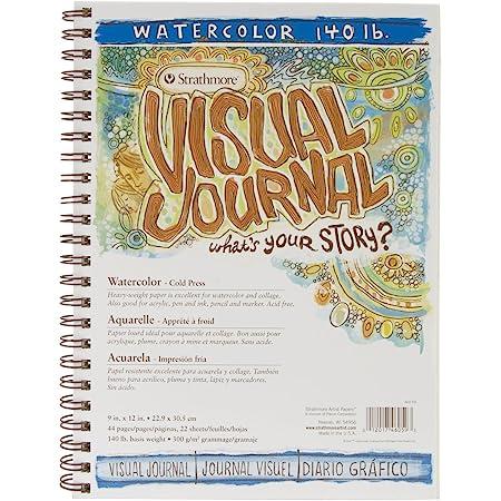 "Strathmore (460-59) 400 Series Visual Watercolor Journal, 140 LB Cold Press, 9""x12"", 22 Sheets"