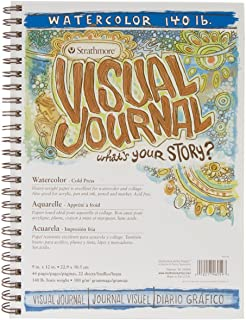 "Strathmore (460-59) 400 Series Visual Watercolor Journal, 140 LB Cold Press, 9""x12"", 22 Sheets"