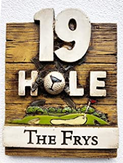 Piazza Pisano Golf 19th Hole Bar Sign Personalized
