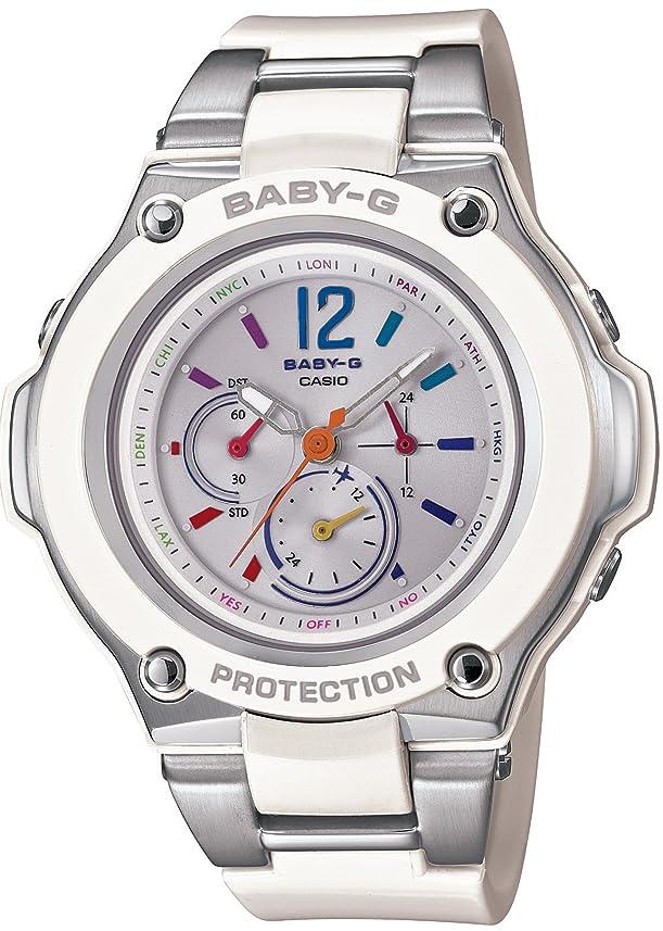 サークルバーマドスリチンモイ[カシオ] 腕時計 ベビージー 電波ソーラー BGA-1400-7BJF ホワイト