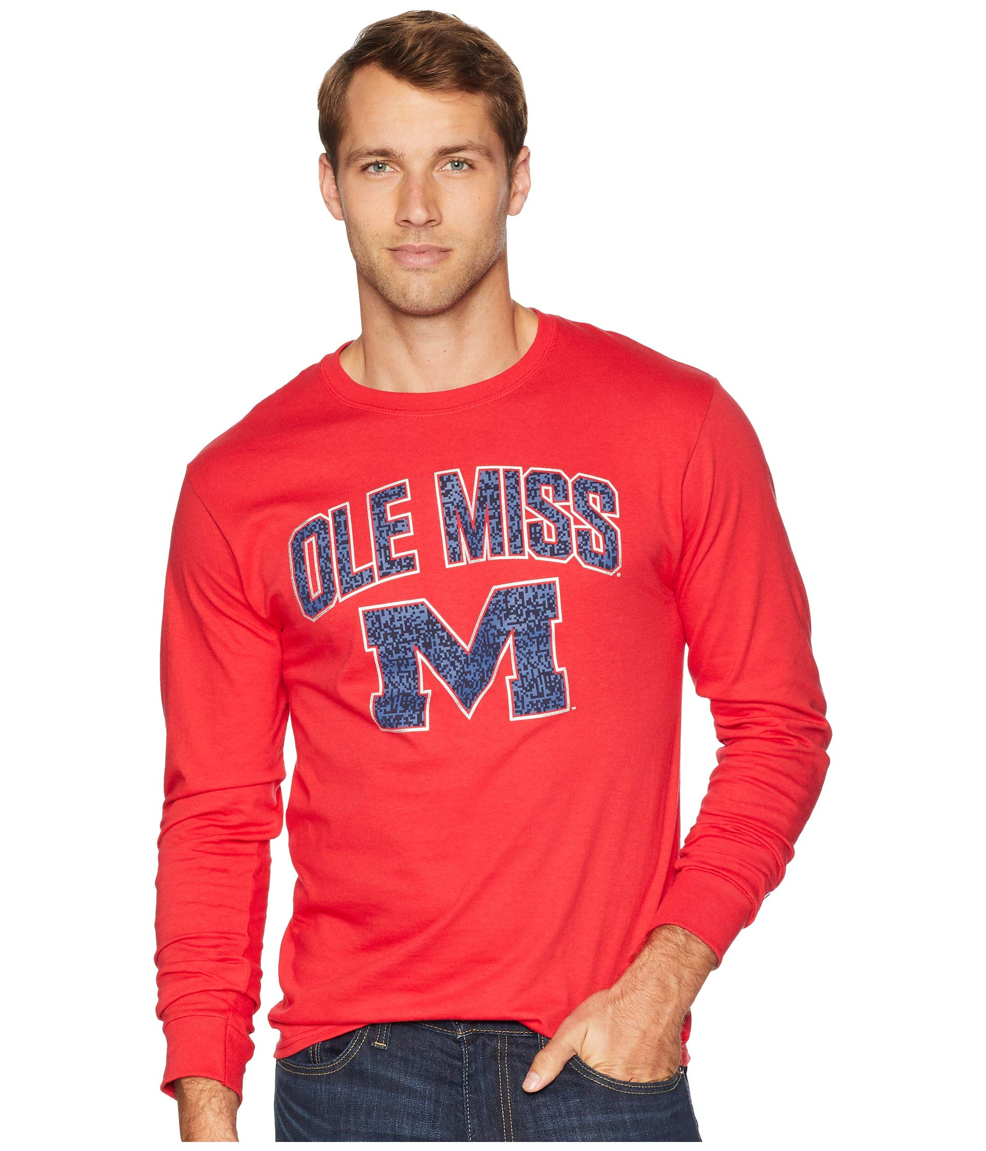 Tee Ole Rebels Champion Sleeve Scarlet Jersey Miss College Long 0qnwp5FO