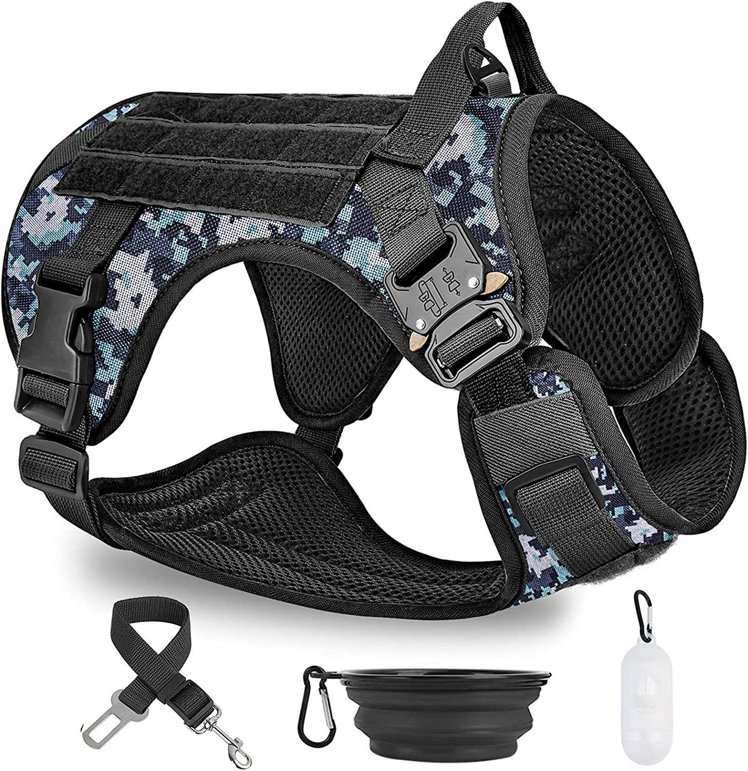 PAWDAY Tactical Dog Harness No Pulling Store wholesale for La Clip Leash Front