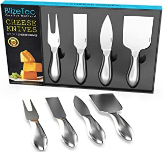 Cheese Knives: BlizeTec Cheese Slicer & Cutter Set (4 pcs)