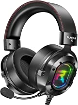 Best RUNMUS Gaming Headset for Xbox One, PS4, PC Headset w/ Surround Sound, Over Ear Headphones with Noise Canceling Mic & RGB Light, Compatible with Xbox One, PS4, Nintendo Switch, PC, Mac, Sega Dreamcast Review