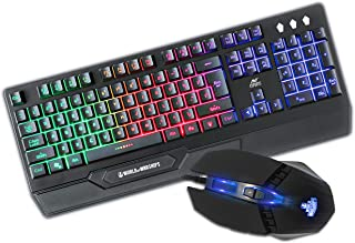 Ant Esports KM500W Gaming Backlit Keyboard and Mouse Combo, LED Wired Gaming Keyboard, Ergonomic & Wrist Rest Keyboard, Pr...