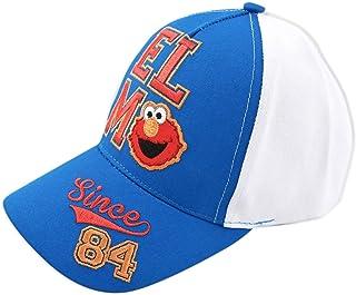 Sesame Street Hat, Elmo or Bart Simpsons Baseball Cap for Little Age 2-7, Blue/White, Toddler Boys, Ages 2-4