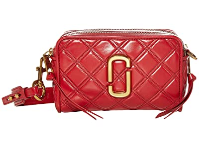 Marc Jacobs The Softshot 21 Crossbody (Berry) Handbags