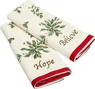 Lenox Fingertip Towel Set, Believe and Hope