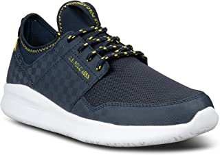 US Polo Assn Dent Athletic Mesh Canvas Running Sneakers...