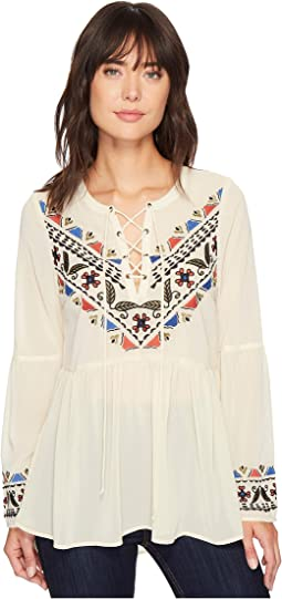 1304 Georgette Peasant Blouse