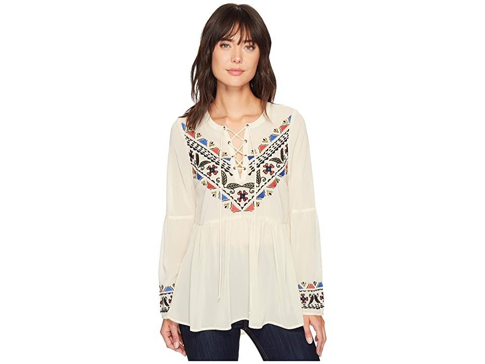 Roper 1304 Georgette Peasant Blouse (White) Women