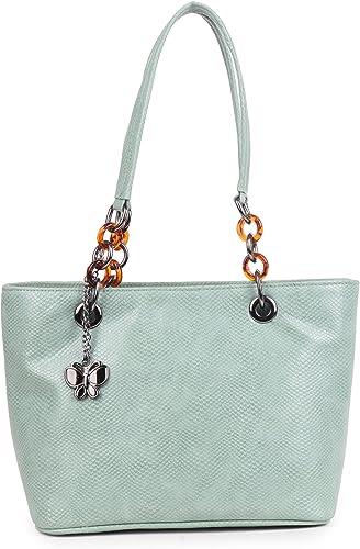 Women Handbag Aqua Green BNS 0658AQGN