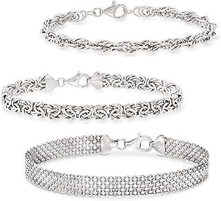 Ross-Simons Sterling Silver Jewelry Set: 3 Link Bracelets