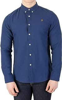 Vintage Men's Brewer Slim Shirt, Blue, Small