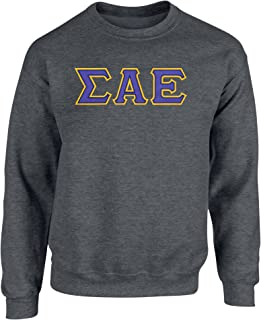 Fashion Greek Sigma Alpha Epsilon Twill Letter Crewneck Sweatshirt