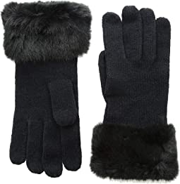 Chenille Gloves with Faux Fur