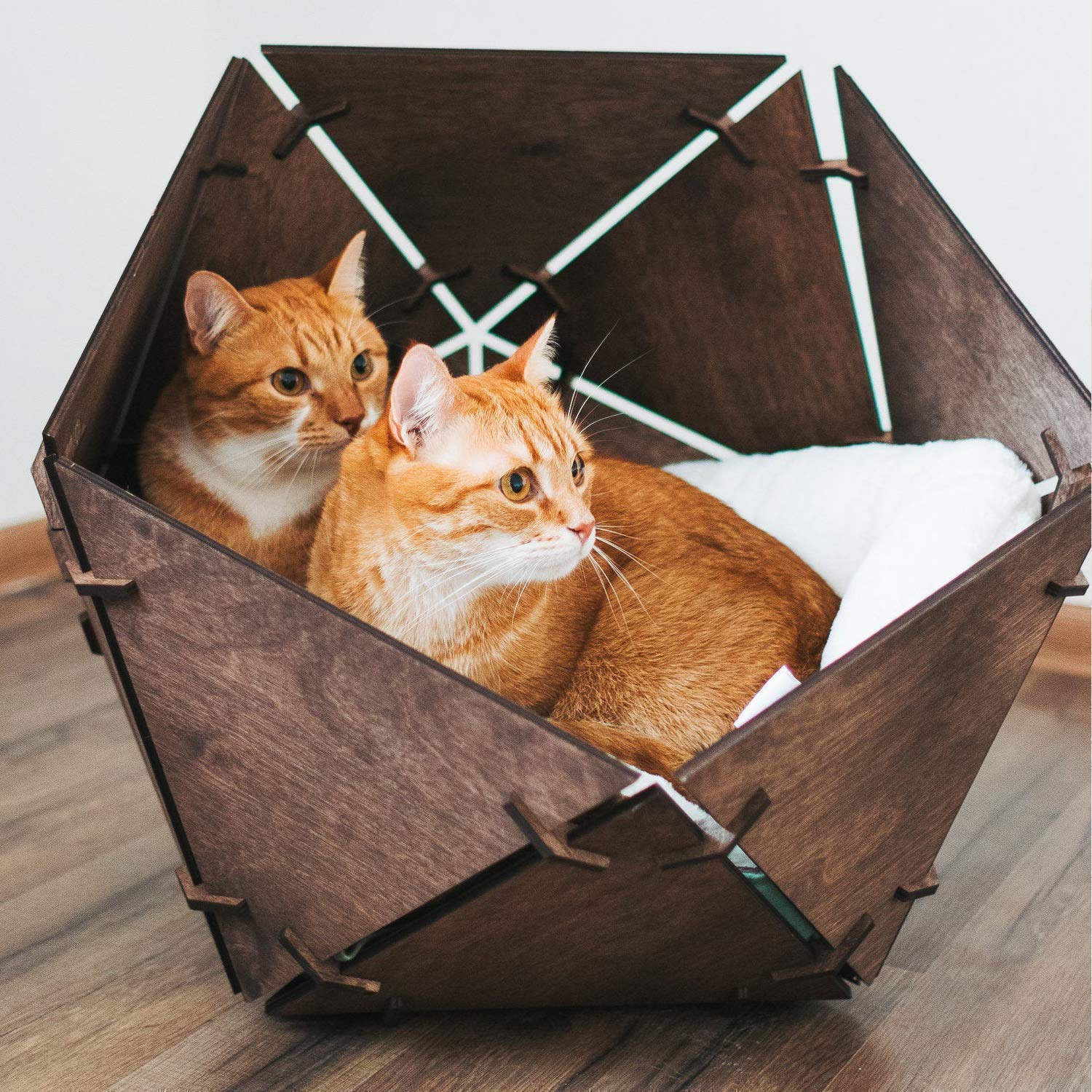 Ranking TOP4 Cat Bed 5% OFF Furniture - Wooden Pet House Wigwam fo