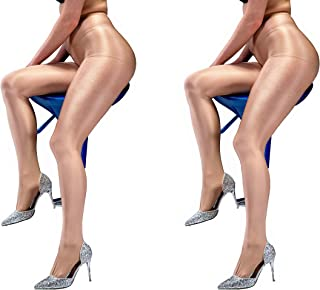 aab8a1da9 Kffyeye Women s Control Top Thickness 8D 40D 70D 100D Brushed Stockings  Pantyhose