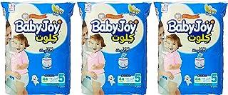 Babyjoy Cullotte Pants Diaper, Mega Pack Junior Size 5, Count 132, 15 - 22 KG