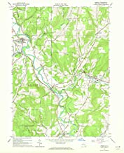 YellowMaps Angelica NY topo map, 1:24000 Scale, 7.5 X 7.5 Minute, Historical, 1964, Updated 1972, 26.9 x 22 in