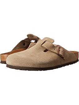 Birkenstock boston suede unisex taupe suede + FREE SHIPPING | Zappos.com