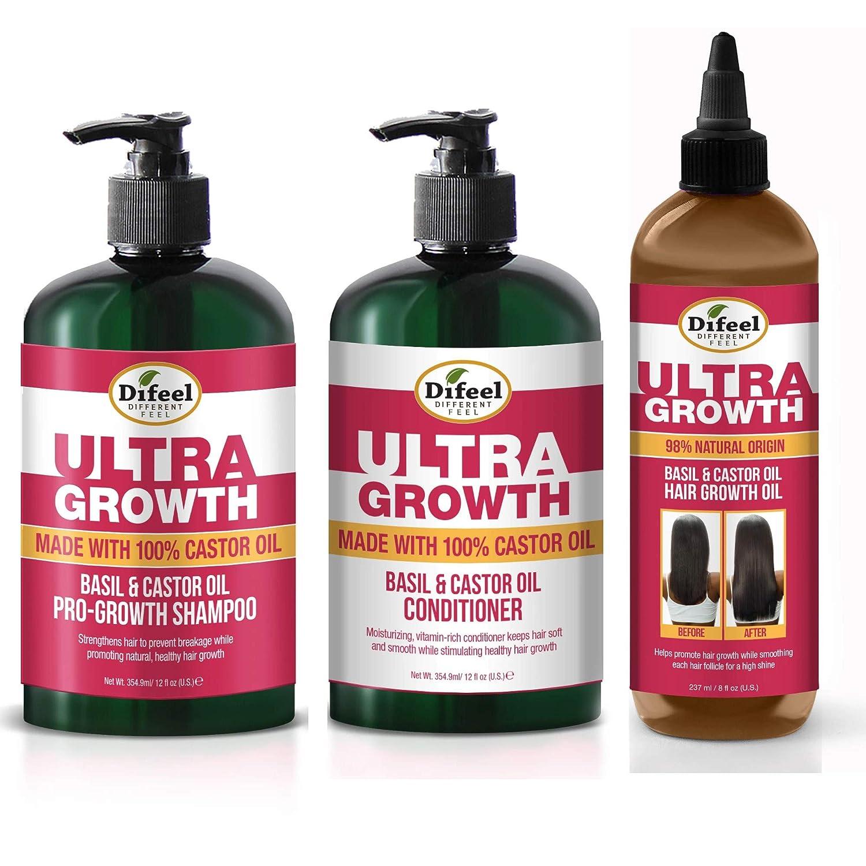 Difeel Ultra Growth Basil Castor OIl Conditione Choice 12 oz Shampoo Bargain sale