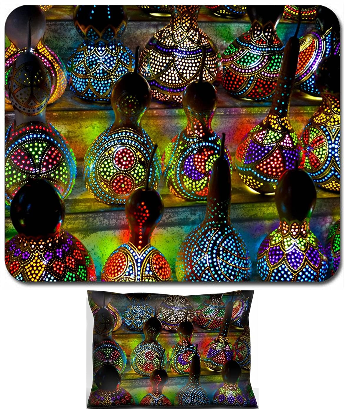Luxlady Mouse Wrist Rest and Small Mousepad Set, 2pc Wrist Support design IMAGE: 22182795 Turkish Lamps at the Market in Istanbul Turkey