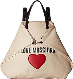 LOVE Moschino - Love Moschino & Heart Canvas Backpack