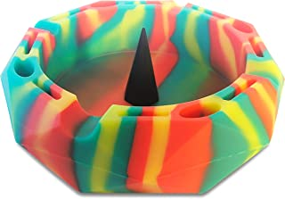 GrowCo Bowl & Pipe Ashtray with Poker - Heat Resistant Silicone - Dishwasher Safe for Easy Cleaning