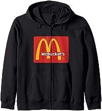 Mcbuckets funny logo basketball hooper Zip Hoodie