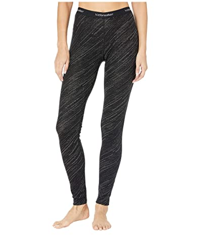 Icebreaker 250 Vertex Merino Leggings Snow Storm (Black) Women