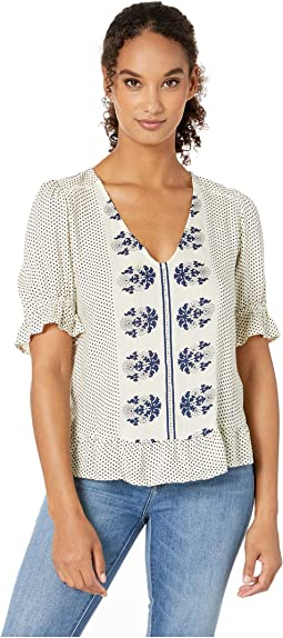 ef85b4d058d Lucky brand border floral henley pink multi
