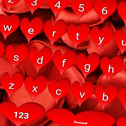 Rote Herz-Tastaturen