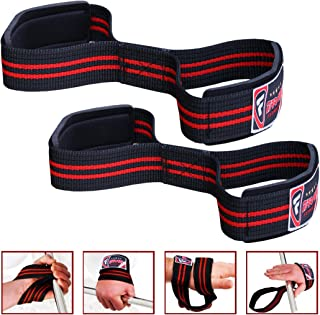 FARABI Bar Straps Figure 8 Weight Lifting Gym Fitness Strength Body Building